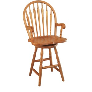 Bow Arrow Arm Barstool