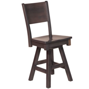 "Sonata 24"" Side Barstool w/Wood Seat"