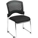 Visitors Chair with Ventilated Plastic Back and Chrome Base (2-Pack)