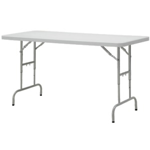 6' Height Adjustable Resin Multi Purpose Table
