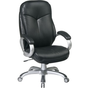 Executive Black Eco Leather Chair with Locking Tilt Control
