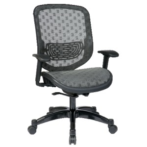 Executive Charcoal DuraFlex with Flow-Thru TechnologyBack and Seat Chair