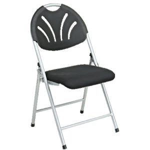 Folding Fan Plastic Back Chair with Mesh Seat (4 Pack)