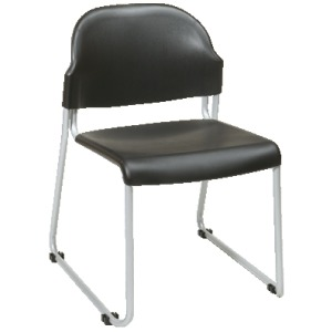 2 Pack Stack Chair with Plastic Seat and Back