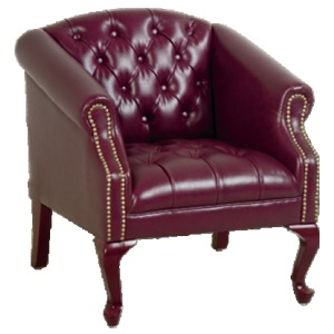 Queen Ann Traditional Jamestown Vinyl Chair