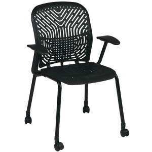801 Series - SpaceFlex Seat and Back Visitors Chair with Arms and Casters(2 pack)