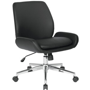 Mid Back Faux Leather Office Chair