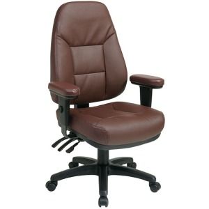 Executive Ergonomic High Back Eco Leather Chair with Adjustable Padded Arms