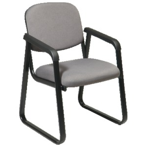 Deluxe Sled Base Arm Chair with Designer Plastic Shell Back