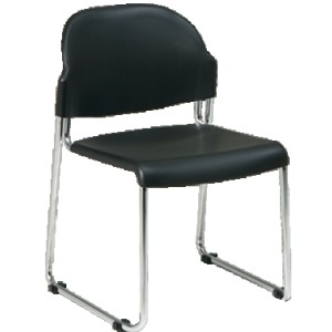 4 Pack Plastic Seat and Back Stack Chair