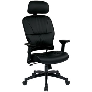 Eco Leather Seat and Back Managers Chair with Headrest