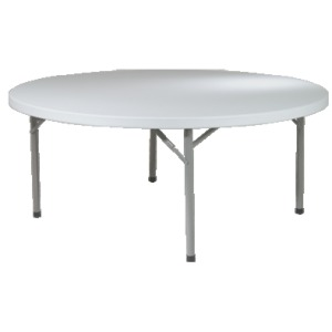 "71"" Round Resin Multi Purpose Table"