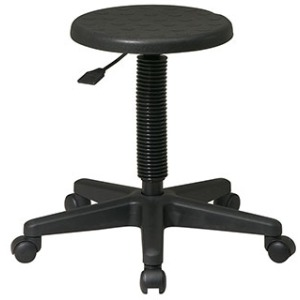 Intermediate Stool with Dual Wheel Carpet Casters