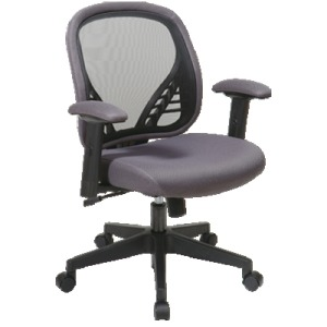DuraGrid Back and Charcoal Mesh Seat Manager's Chair