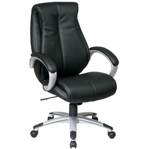 Executive Eco Leather Chair with Padded Arms