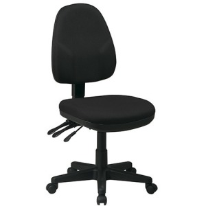 Dual Function Ergonomic Chair - Black