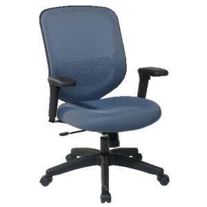 Blue Mesh Seat and Back Chair