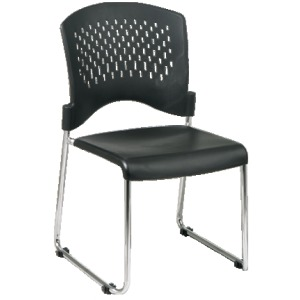 Sled Back Stack Chair with Plastic Seat and Back