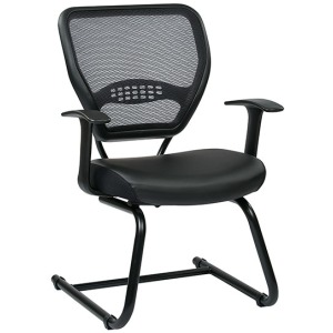 Professional Air Grid Back Visitors Chair with Eco Leather Seat