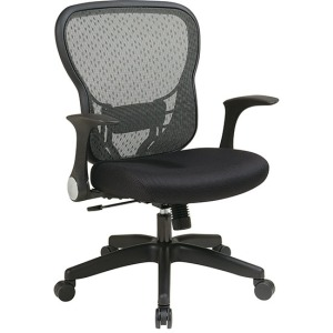 Deluxe R2 SpaceGrid Back Chair with Mesh Seat and Flip Arms