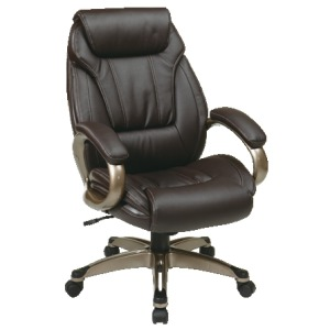 Executive Eco Leather Chair with Padded Arms and Coated Base