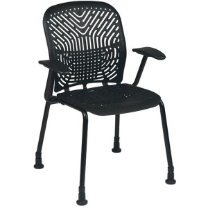 801 Series - SpaceFlex Seat and Back Visitors Chair with Arms and Glides (2 pack)