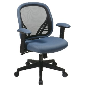 DuraGrid Back and Blue Mist Mesh Seat Manager\'s Chair