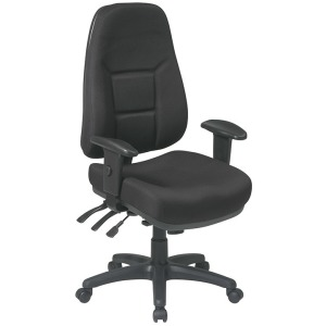 High Back Multi Function Ergonomic Chair - Black