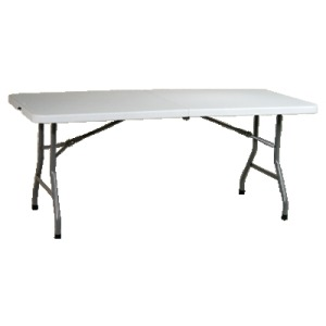 6' Resin Center Fold Multi Purpose Table