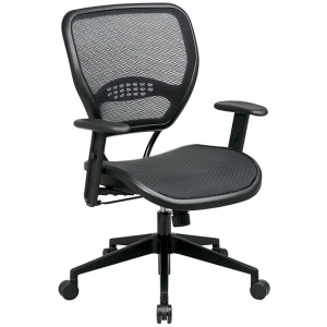 Professional Dark Air Grid Seat and Back Chair