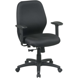 Mid Back 2-to-1 Synchro Tilt Chair - Black