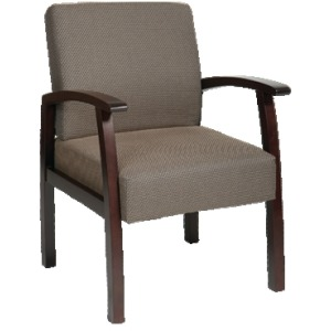 Deluxe Espresso Finish Guest Chair