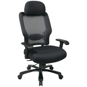 Dark Air Grid Back and Mesh Seat Big and Tall Chair