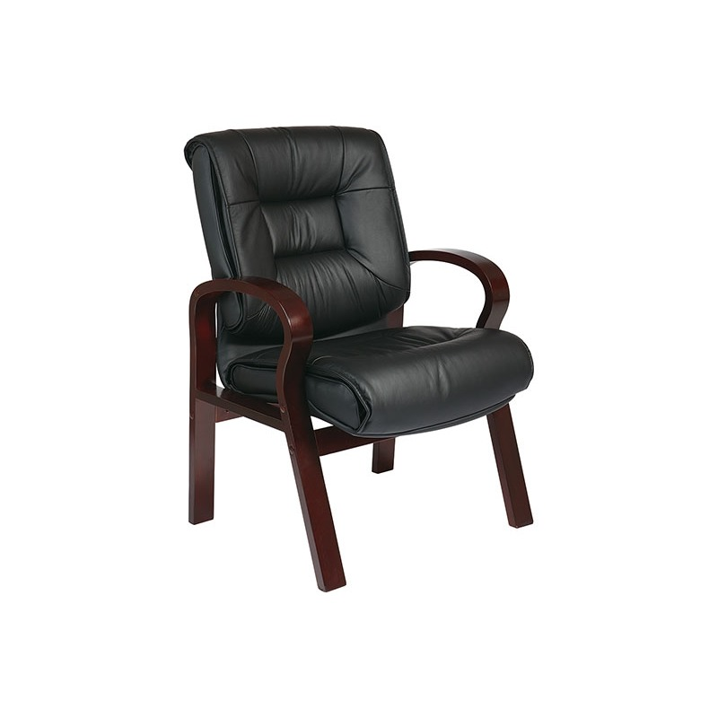 Deluxe Mid-Back Executive Leather Visitors Chair