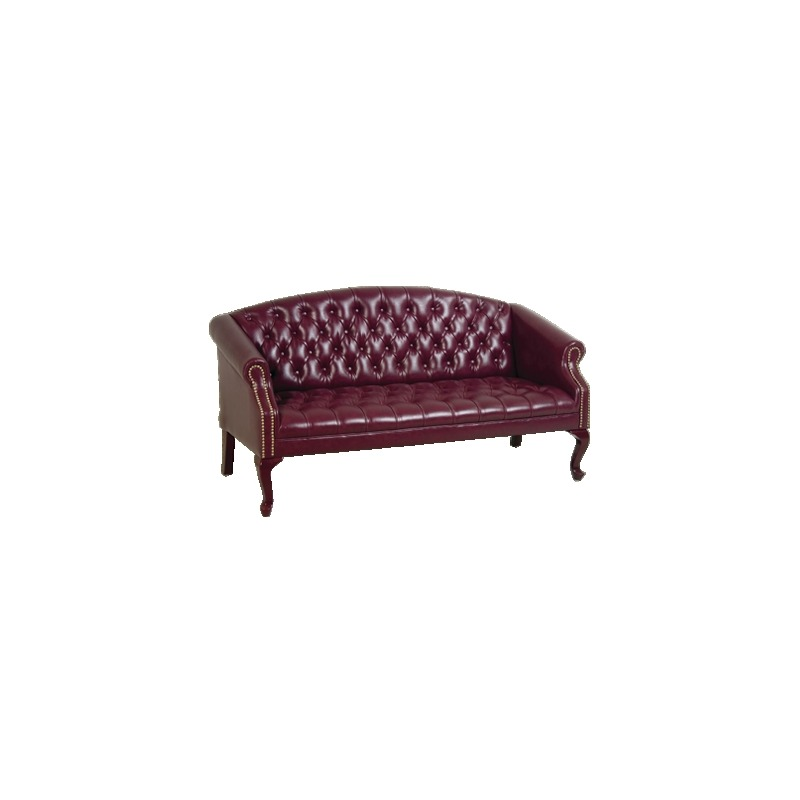 Queen Ann Traditional Jamestown Vinyl Sofa