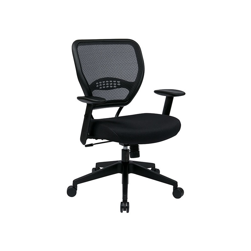 Professional Dark Air Grid Back Managers Chair with Black Mesh Seat