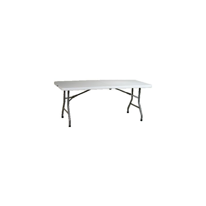 6' Resin Center Fold Multi Purpose Table