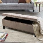 Shandra II Tufted Top Storage Bench
