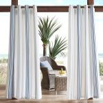 Newport Printed Stripe 3M Scotchgard Outdoor Panel