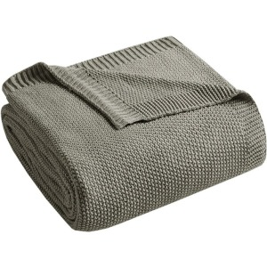 Bree Knit Throw - Charcoal