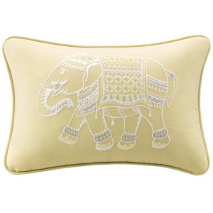 Zahira Embroidered Oblong Pillow