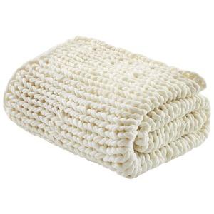 Handmade Chunky Double Knit Throw - Ivory