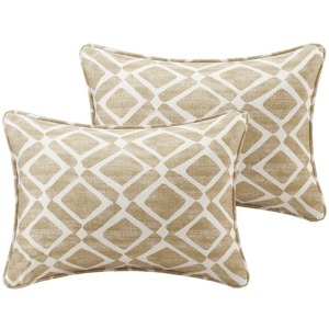 Delray Diamond Printed Oblong Pillow Pair