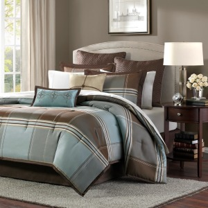 Lincoln Square 8 Piece Queen Comforter Set - Brown