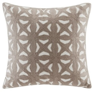 Nova Embroidered Fret Decorative Pillow