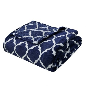 Oversized Ogee Throw - Navy