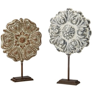 Harlowe Painted Iron Sculpture Set of 2