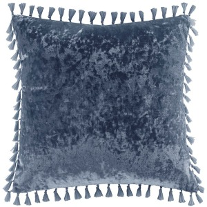 Ariana Square Crushed Velvet Decorative Pillow w/Tassels