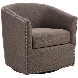 Tyler Swivel Chair - Chocolate