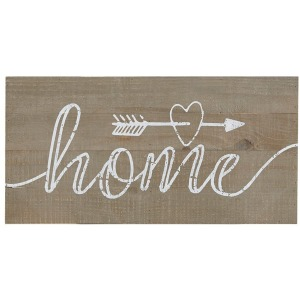 Rustic Home Print On Real Wood Plank